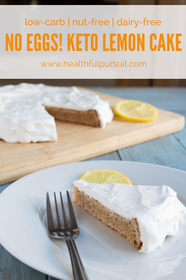 Keto Dairy Free Desserts  Keto Lemon Cake low carb egg free nut free grain free