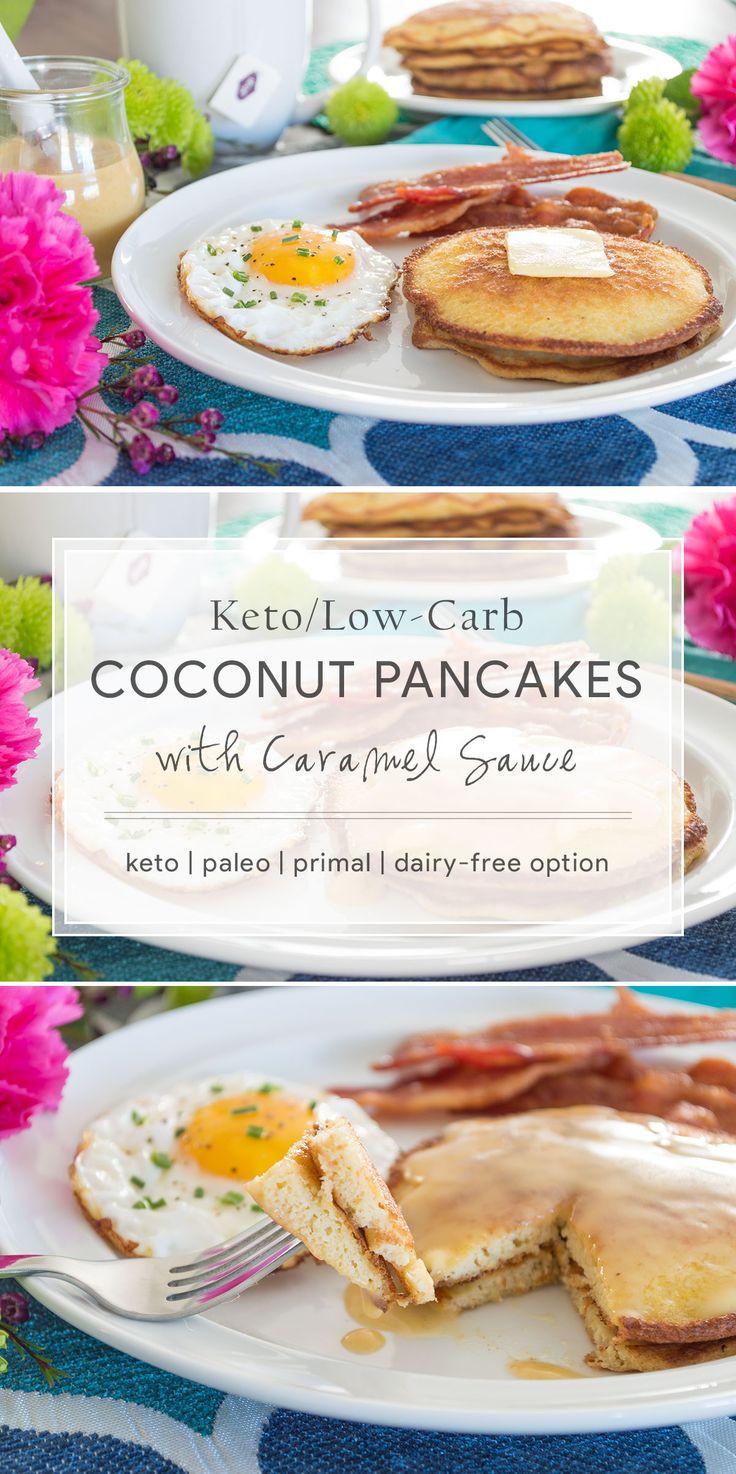 Keto Dairy Free Recipes  Keto Coconut Pancakes primal dairy free option