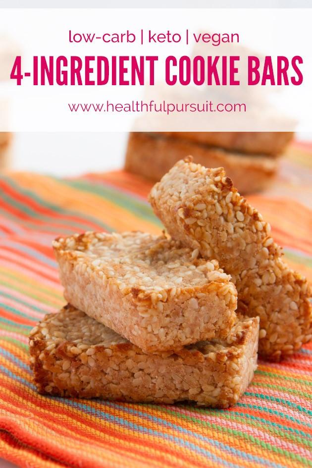 Keto Diet Bars  4 Ingre nt Keto Cookie Bars Low Carb Vegan Paleo