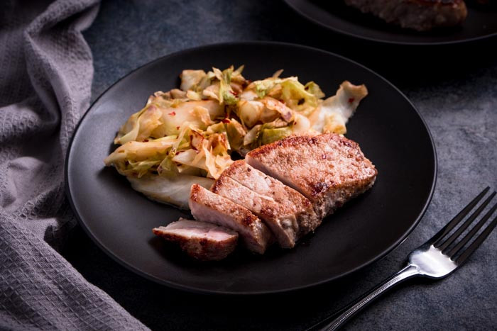 Keto Diet Pork Chops  Pork Chops & Cabbage Dinner Recipe [Low Carb] KETOGASM