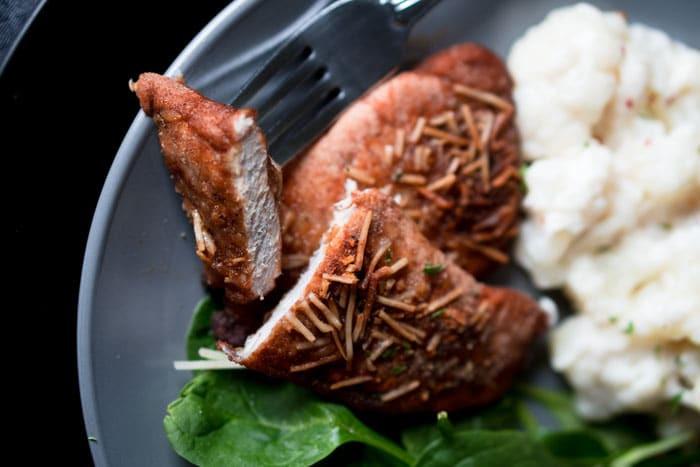 Keto Diet Pork Chops  Keto Pork Chops Recipe Shake & Bake Style KETOGASM
