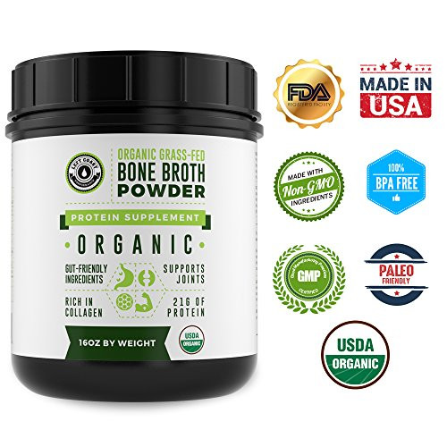 Keto Diet Protein Powder  Organic Grass Fed Beef Bone Broth Protein Powder 16oz