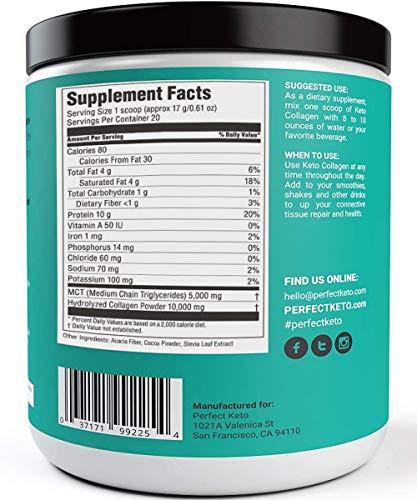Keto Diet Protein Powder  Perfect Keto Chocolate Protein Powder Collagen Peptides
