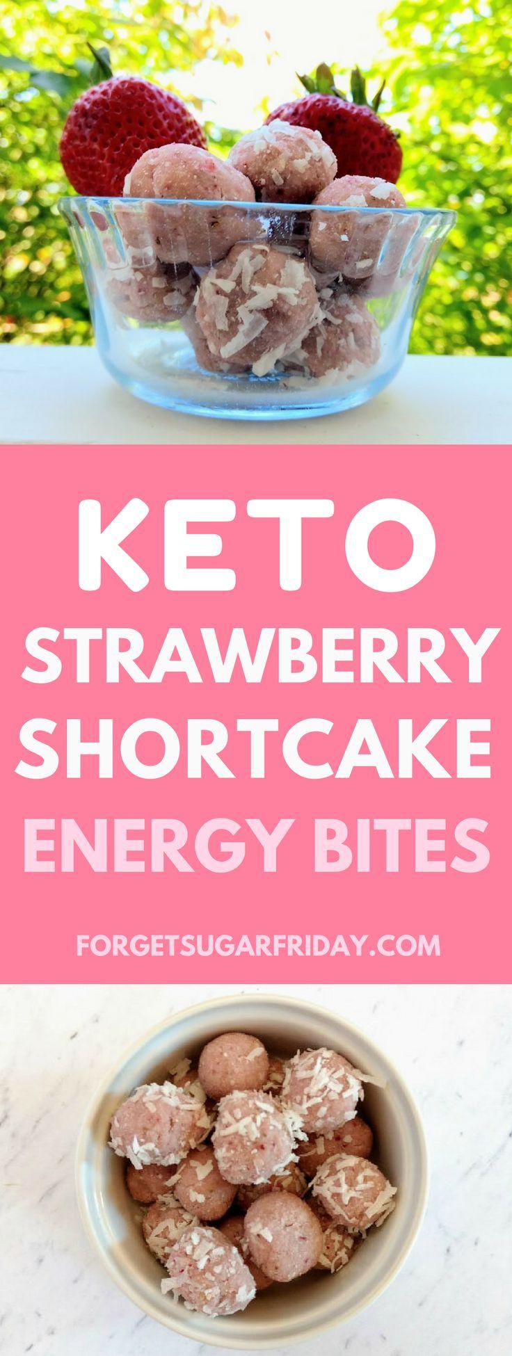 Keto Diet Strawberries  These Keto Strawberry Shortcake Energy Bites are an