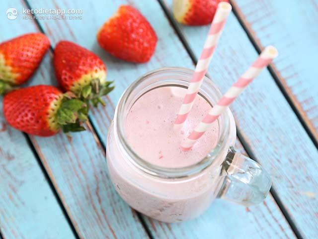 Keto Diet Strawberries  Strawberry Keto Milkshake
