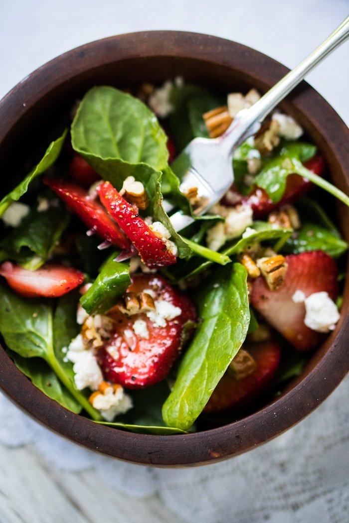 Keto Diet Strawberries  Whole30 Paleo & Keto Strawberry Spinach Salad