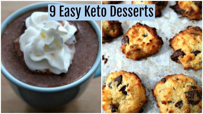 Keto Friendly Desserts To Buy  9 Easy Keto Dessert Recipes Quick Low Carb Ketogenic