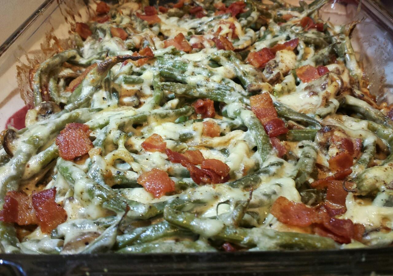 Keto Green Bean Casserole  fat cat keto — Cheesy Green Bean Casserole Steam fresh
