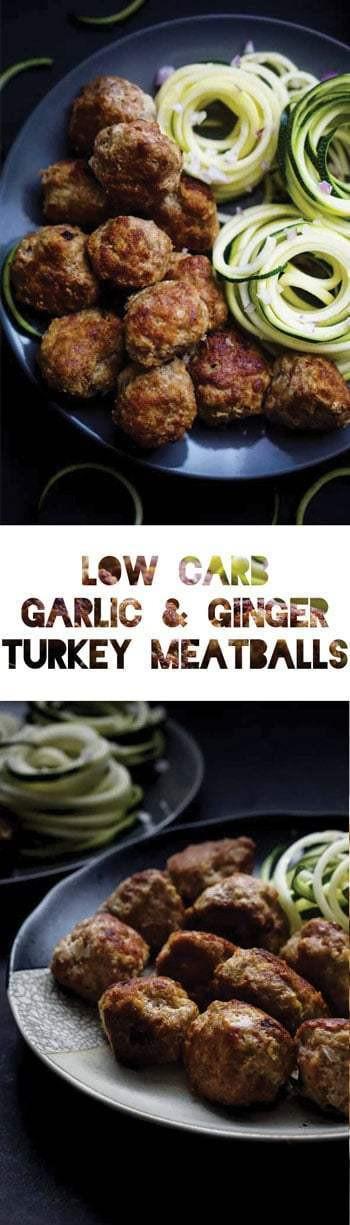 Keto Ground Turkey Recipes  Keto Meatball Recipe with Ground Turkey Garlic & Ginger