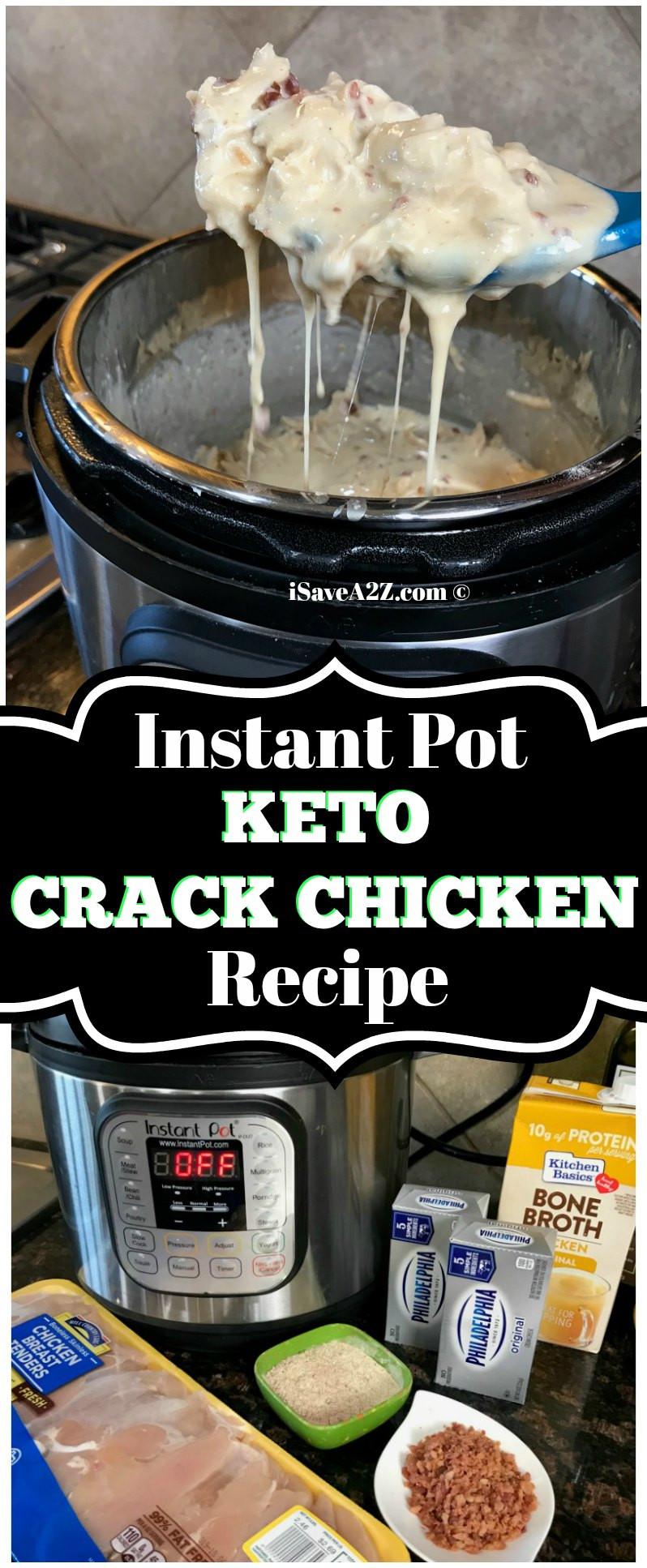 Keto Instant Pot Chicken Recipes  Instant Pot Keto Crack Chicken Recipe iSaveA2Z