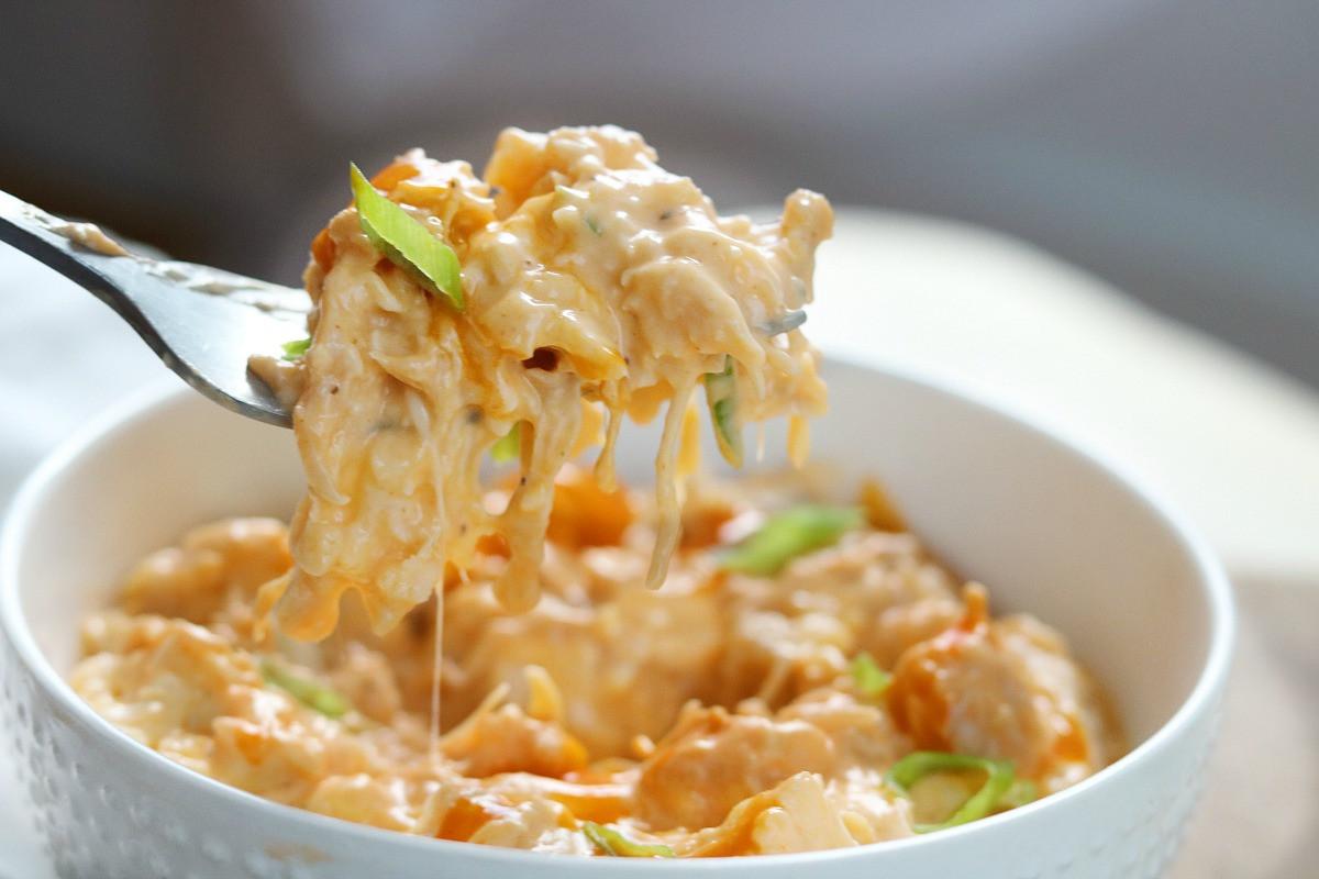 Keto Instant Pot Chicken Recipes  KETO Buffalo Chicken Cauliflower Instant Pot Recipe 15