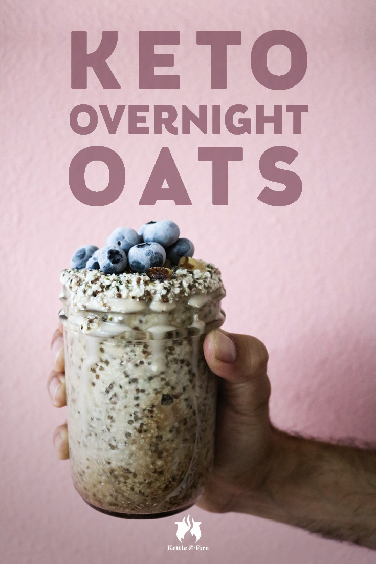 Keto Overnight Oats  Keto Overnight Oats with Coconut and Blueberries