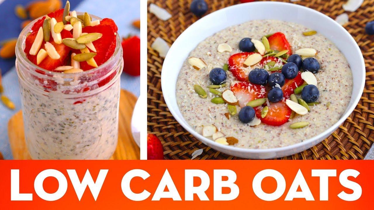 Keto Overnight Oats  Low Carb Oatmeal Hot Porridge & Overnight Oats Keto