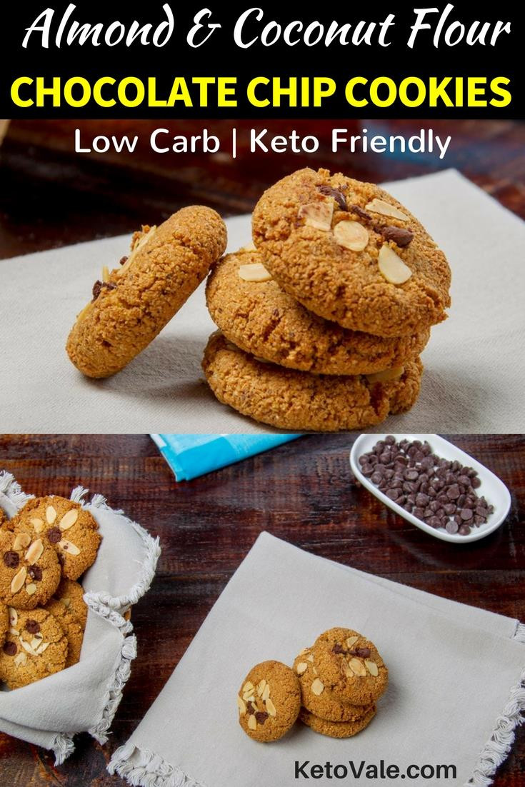 Keto Peanut Butter Cookies Almond Flour  Almond Coconut Flour Chocolate Chip Cookies Low Carb