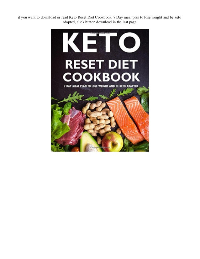 Keto Reset Diet Book  Keto Adapted Losing Weight – Blog Dandk