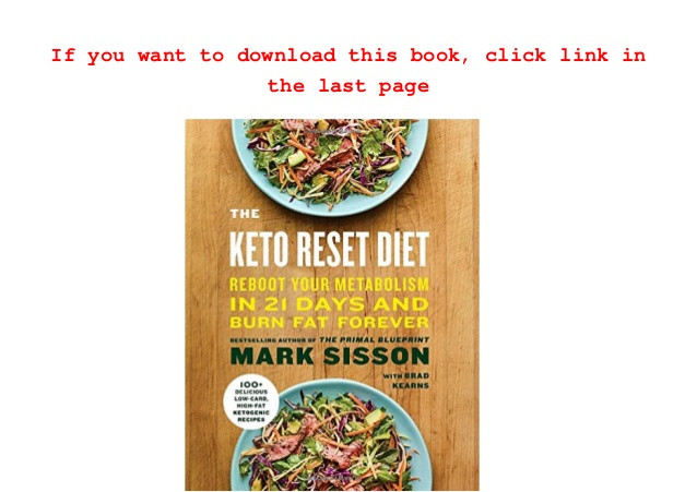 Keto Reset Diet Pdf  Read The Keto Reset Diet
