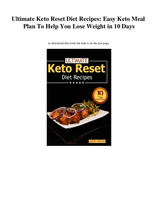 Keto Reset Diet Pdf  [PDF] Download Ultimate Keto Reset Diet Recipes Easy Keto