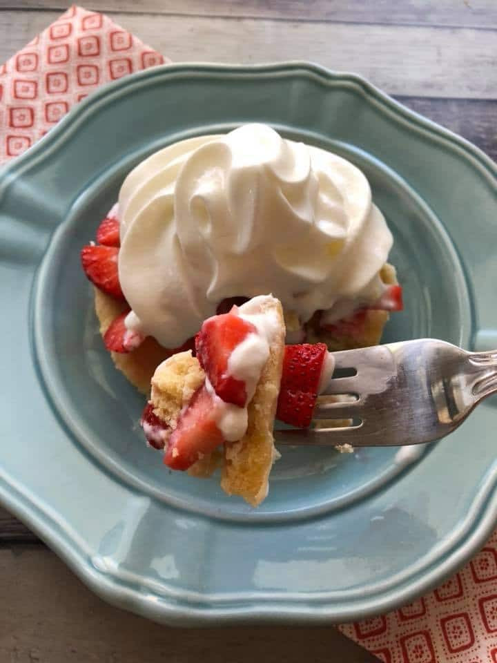 Keto Strawberry Cake  Keto Strawberry Shortcake Low Carb 90 Second Cake Recipe