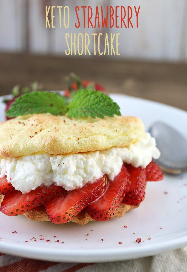 Keto Strawberry Cake  Easy Keto Strawberry Shortcakes