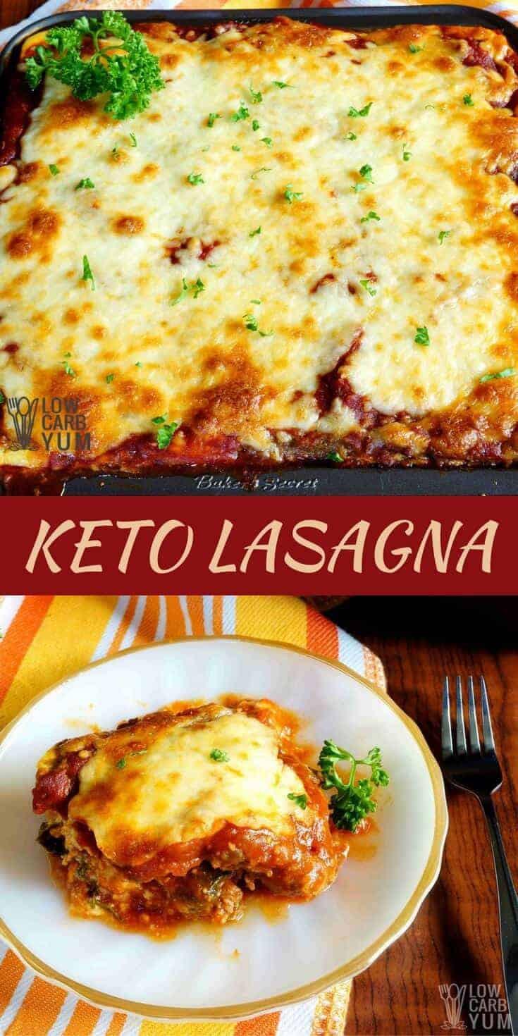 Keto Vegetarian Lasagna Keto Lasagna with Meatza Layers