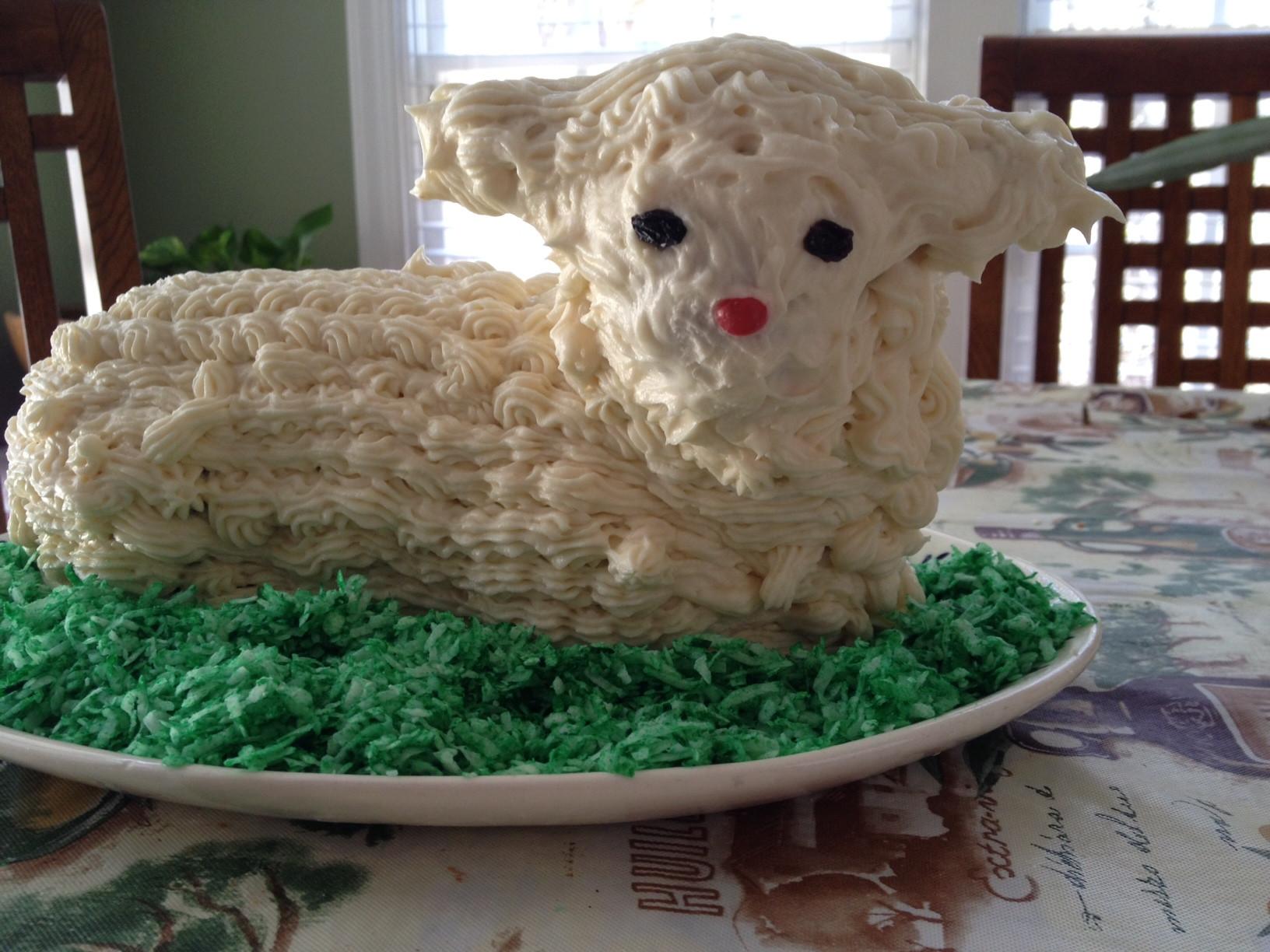 Lamb For Easter  Easter Lamb Cake Recipe — Dishmaps