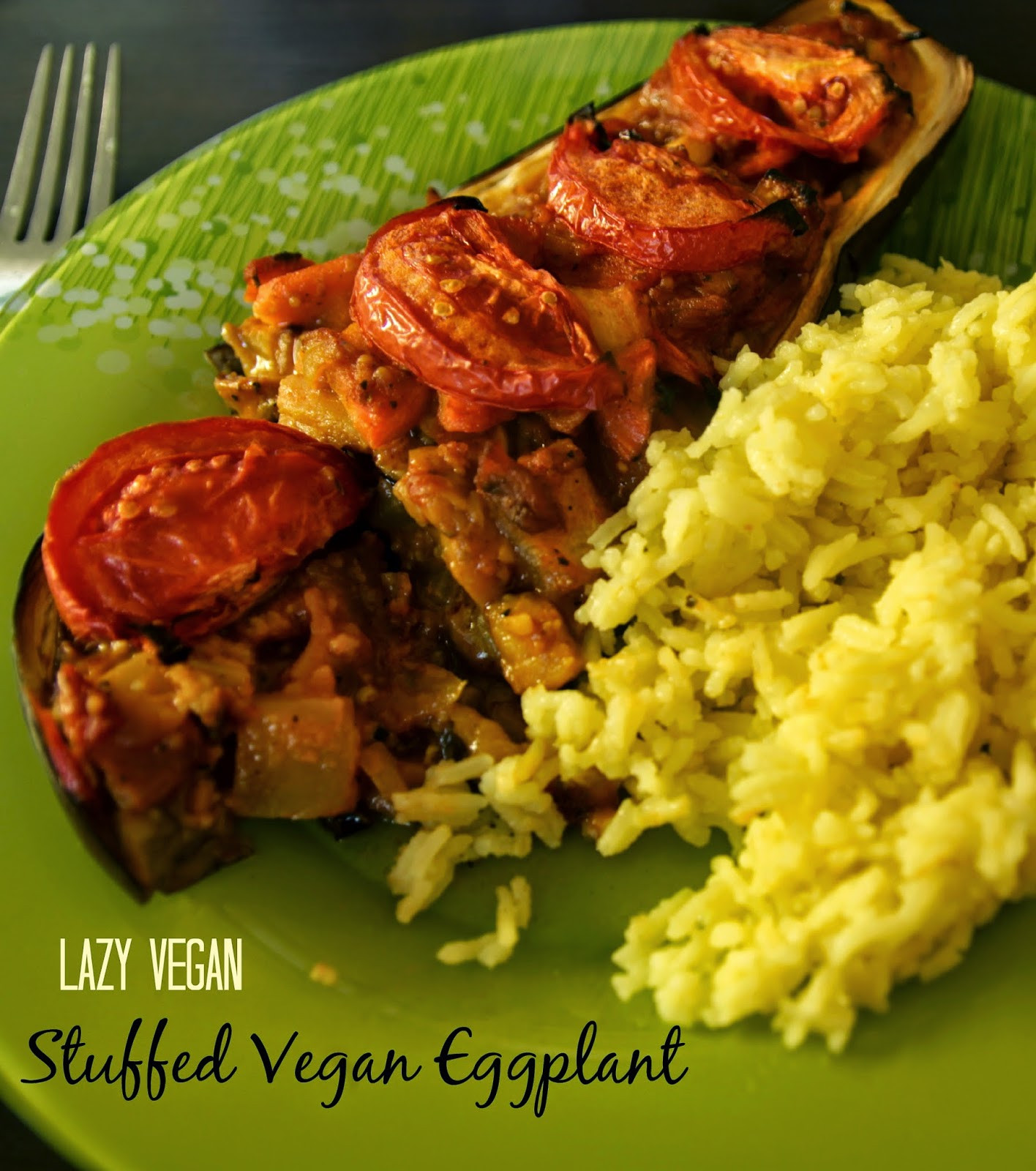 Lazy Vegan Recipes  Lazy Vegan Stuffed Vegan Eggplant