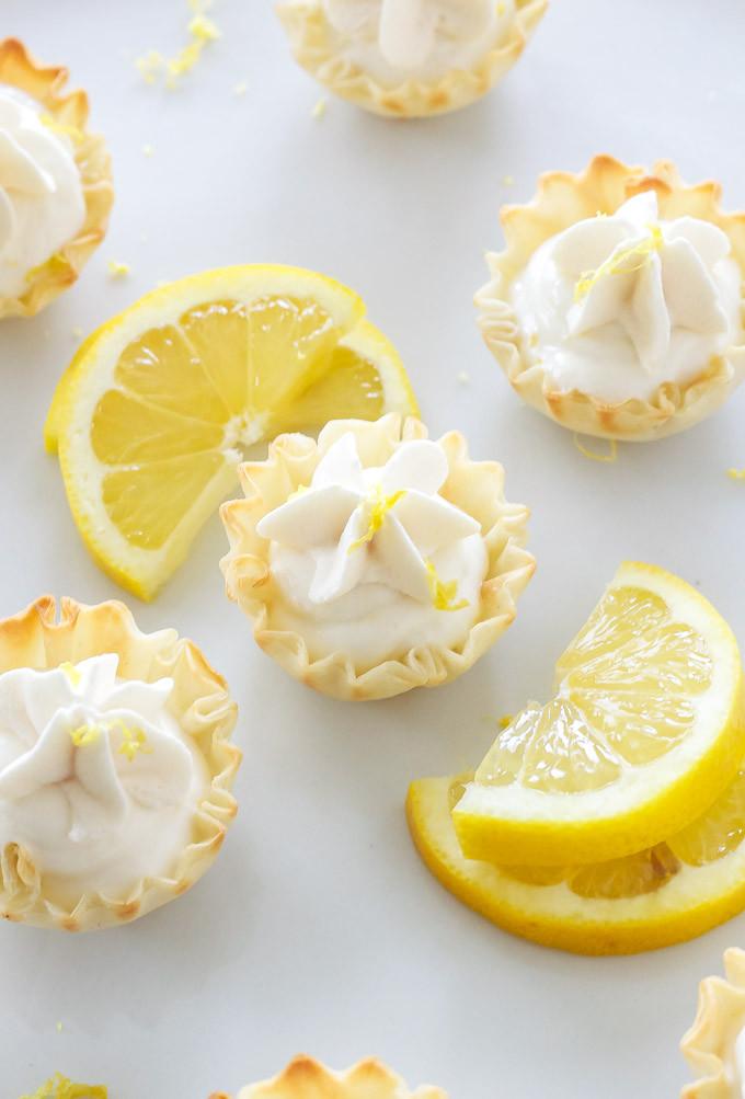 Lemon Easter Desserts  Mini Lemon Cream Pies Recipe Runner