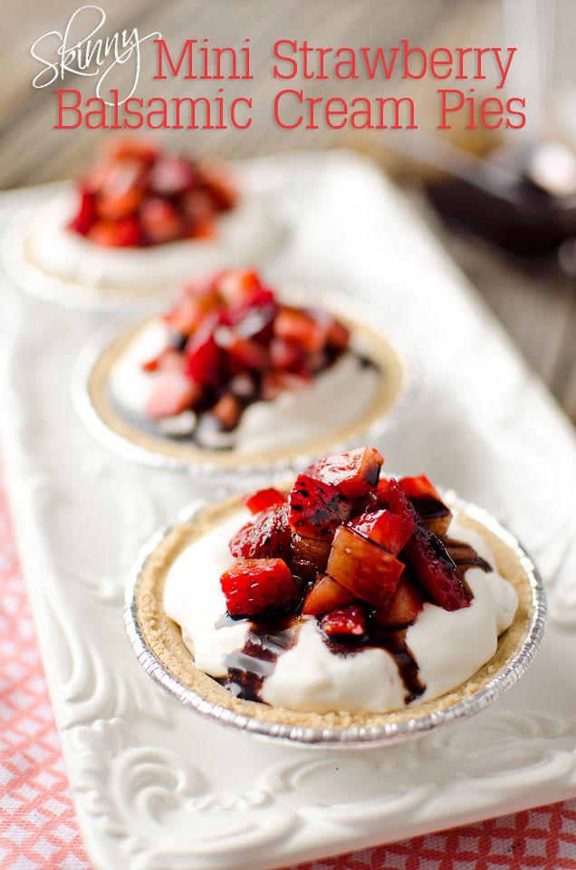 Light Easter Desserts  Skinny Mini Strawberry Balsamic Cream Pies