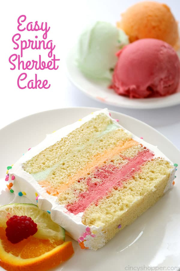 Light Easter Desserts  Easy Spring Sherbet Cake CincyShopper