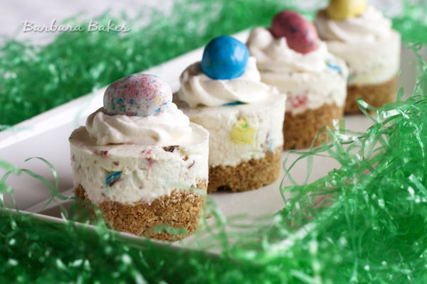 Light Easter Desserts  Robin Eggs No Bake Cheesecake Recipe