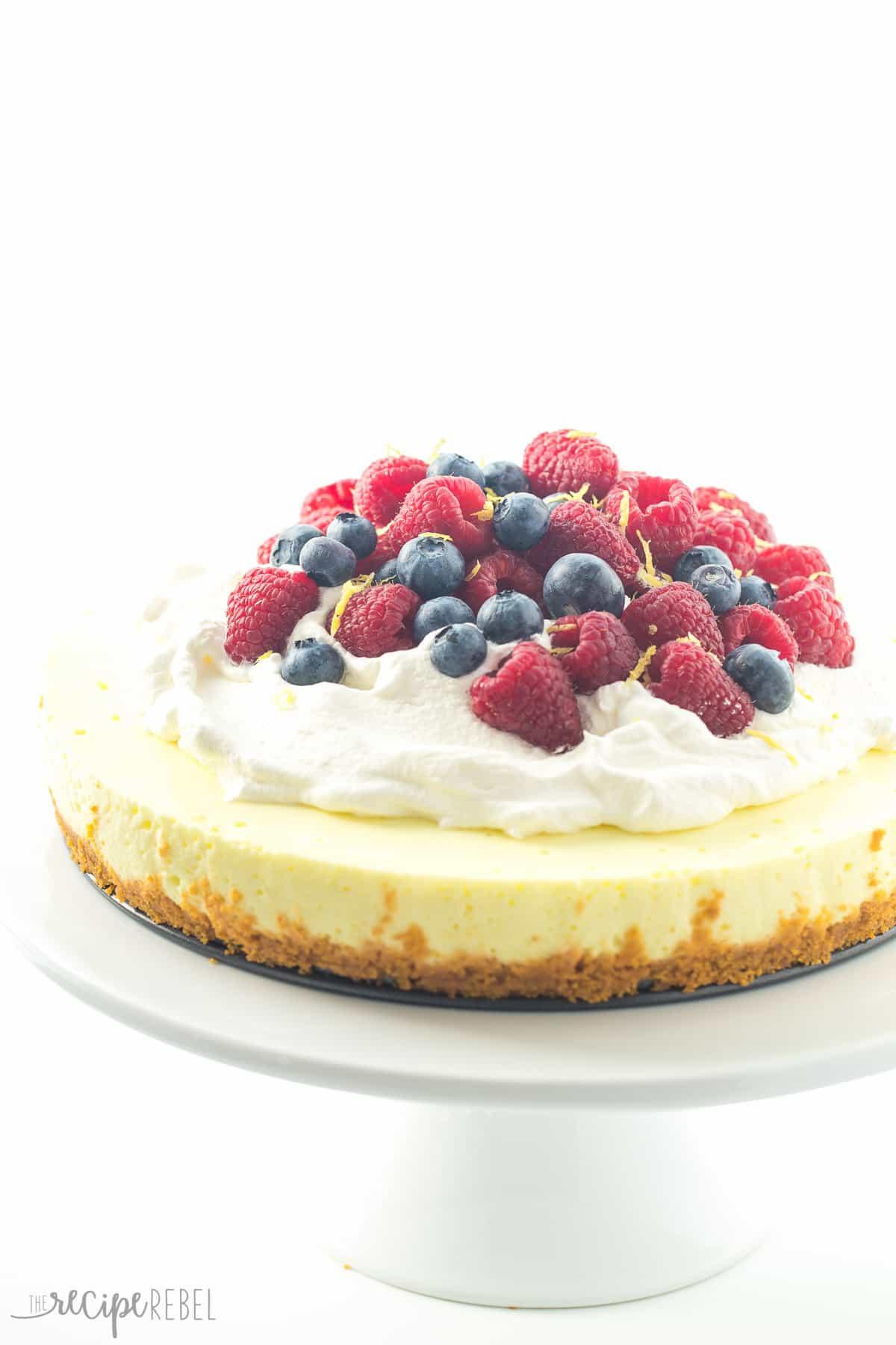 Light Easter Desserts  Light No Bake Lemon Cheesecake Secret Ingre nt