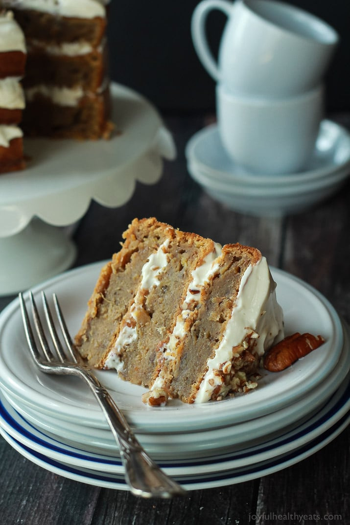 Light Easter Desserts  Healthier Hummingbird Cake with Cream Cheese Frosting