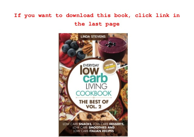Linda Low Carb Recipes  Read Low Carb Living Cookbook Low Carb Snacks Low Carb