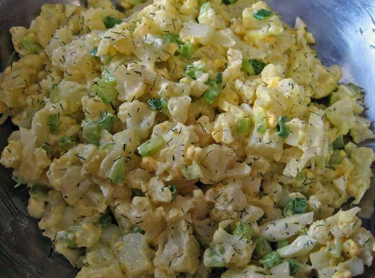 Linda Low Carb Recipes  It s Raining Crafts & Dogs Mock Potato Salad Low Carb