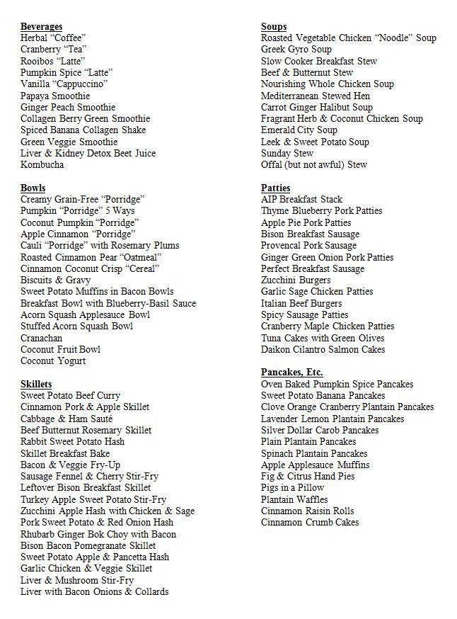 List Of Healthy Breakfast  85 Amazing AIP Breakfasts