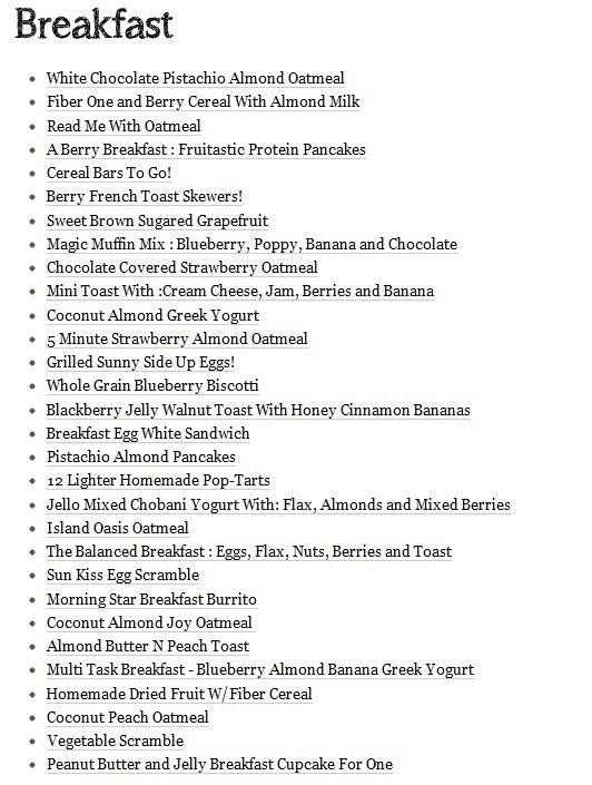 List Of Healthy Breakfast  20 best healthy food menu images on Pinterest