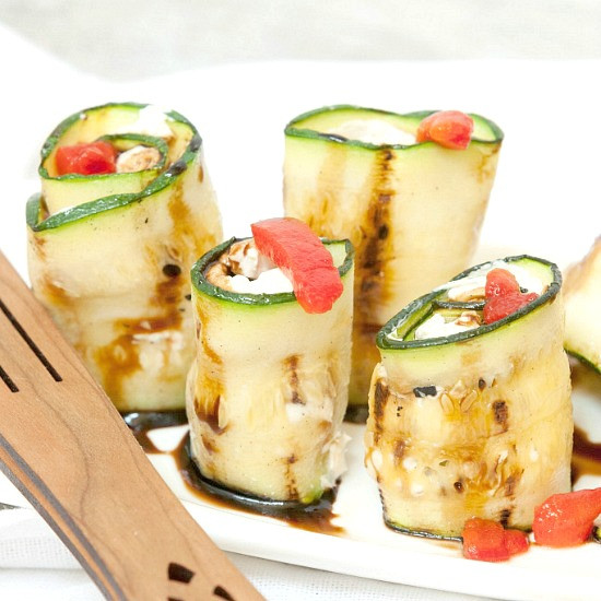 Low Calorie Appetizers  Healthy Pear Pancetta Goat Cheese Appetizer Bites