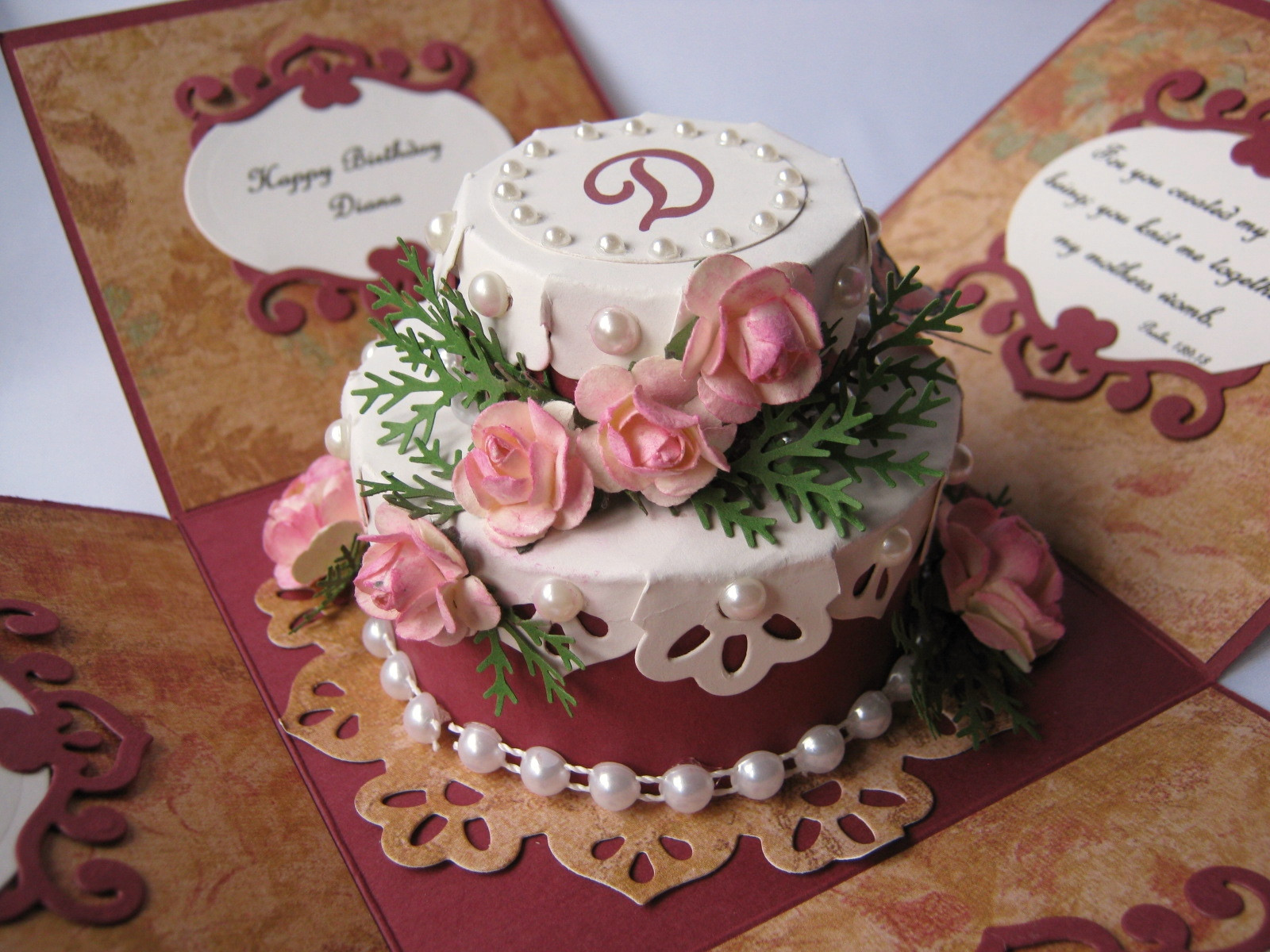 Low Calorie Birthday Cake  Stamping Cowgirl Creations Low Cal Birthday Cake