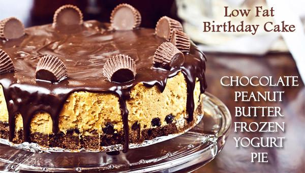 Low Calorie Birthday Cake  Low Fat Birthday Cake Chocolate Peanut Butter Pie Dot
