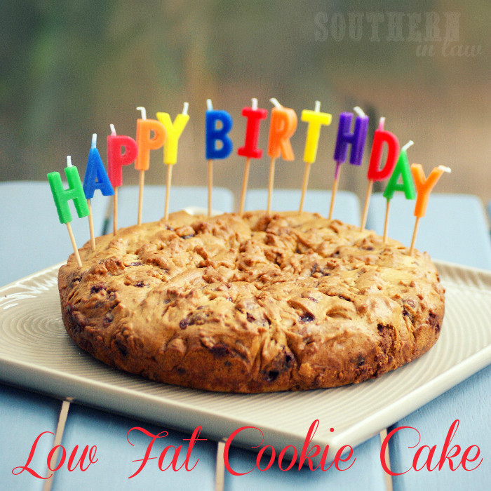 Low Calorie Birthday Cake  Southern In Law Recipe Healthier Cookie Cake