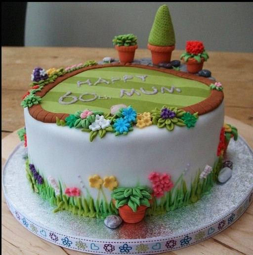 Low Calorie Birthday Cake  Garden Cake Sweets Pinterest