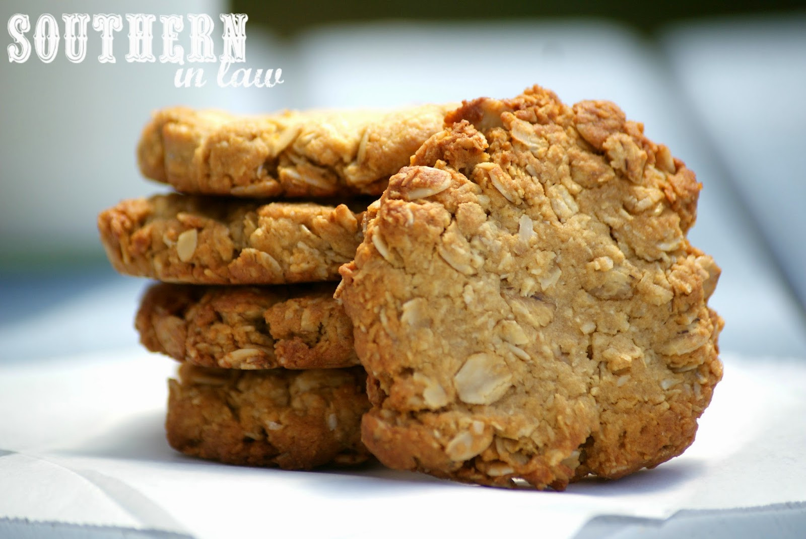 Low Calorie Biscuit Recipe  Southern In Law Recipe Healthier ANZAC Biscuits