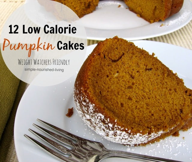 Low Calorie Cake Recipes  Weight Watchers Pumpkin Cake Recipes with WW Points Values
