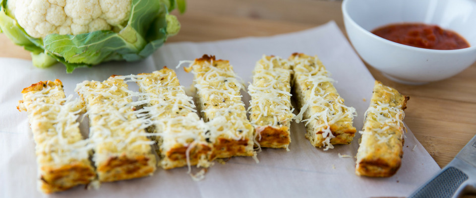 Low Calorie Cauliflower Recipes  Low Calorie Savory Cauliflower Breadsticks