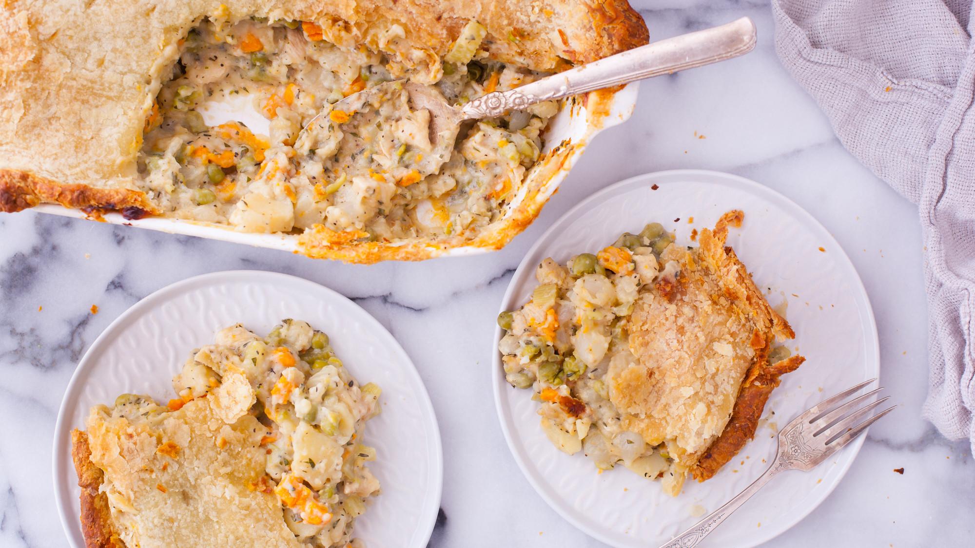 Low Calorie Chicken Pot Pie  Light fort Food Diet Recipes Genius Kitchen