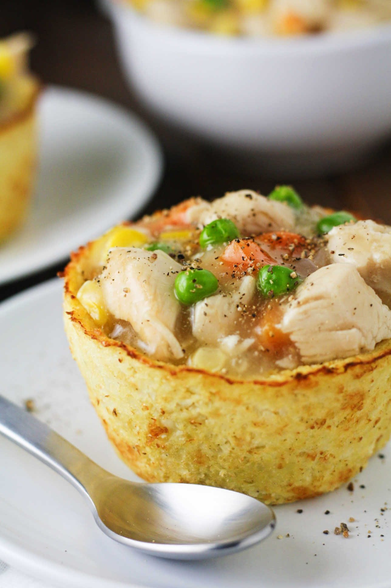 Low Calorie Chicken Pot Pie Recipes  Low Carb Cauliflower Pot Pies It s Cheat Day Everyday