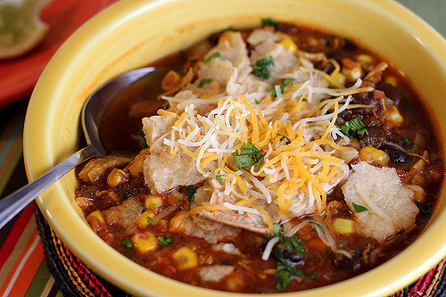 Low Calorie Chicken Tortilla Soup  Healthy Chicken Tortilla Soup Recipe Back to the Cutting