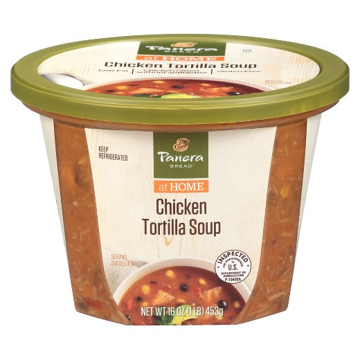 Low Calorie Chicken Tortilla Soup  Panera Bread Low Fat Chicken Tortilla Soup 16 oz Tar