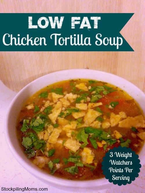 Low Calorie Chicken Tortilla Soup  Low Fat Chicken Tortilla Soup