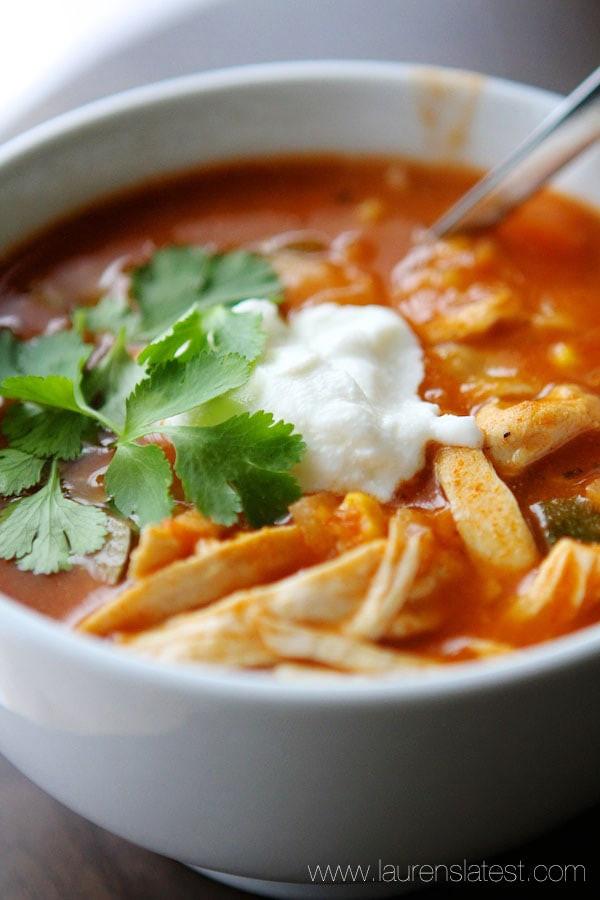 Low Calorie Chicken Tortilla Soup  Easy Chicken Healthy Tortilla Soup